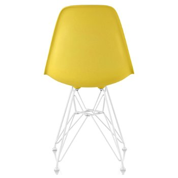 Shown in Pale Yellow seat color with Wire Base/White