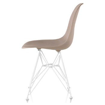 Shown in Stone seat color with Wire Base/White