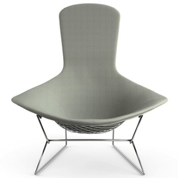 Shown in Classic Boucle: Smoke, Polished Chrome finish