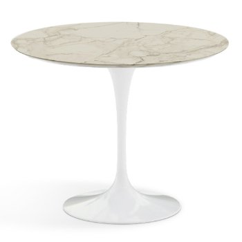 Shown in Carrara White-Grey Natural Marble Top finish with White Base, 36 Inch