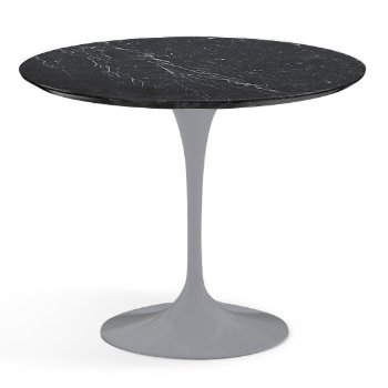 Shown in Nero Marquina Black Shiny Coated Marble finish with Platinum Base, 36 Inch