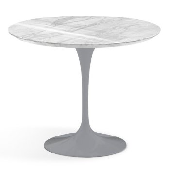 Shown in Carrara White-Grey Polished Coated Marble finish with Platinum Base, 36 Inch