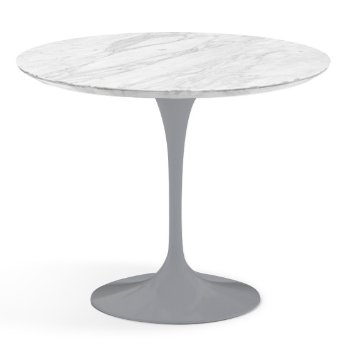 Shown in Carrara White-Grey Satin Coated Marble finish with Platinum Base, 36 Inch