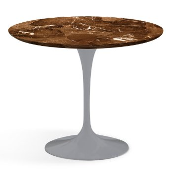 Shown in Espresso Brown Satin Coated Marble finish with Platinum Base, 36 Inch