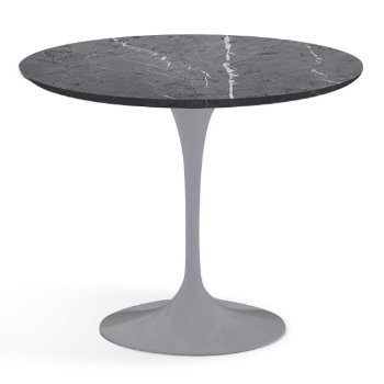 Shown in Grigio Marquina Satin Coated Marble finish with Platinum Base, 36 Inch