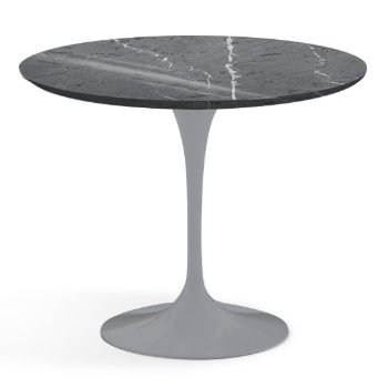 Shown in Grigio Marquina Shiny Coated Marble finish with Platinum Base, 36 Inch