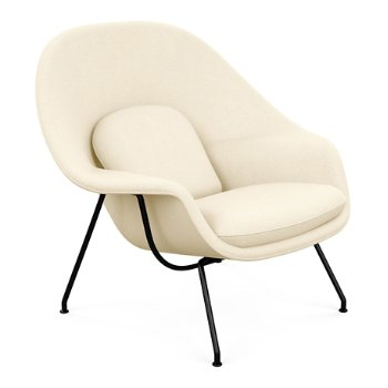 Shown in Classic Boucle: Smoke with Polished Chrome base