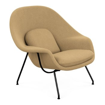 Shown in Classic Boucle: Smoke with Black Powder-Coat base