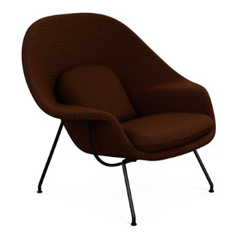 Shown in Classic Boucle: Pumpernickel with Black Powder-Coat base