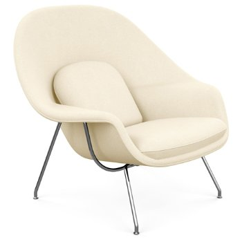 Shown in Volo Leather: Tan with Polished Chrome base