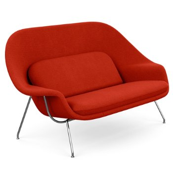 Shown in Classic Boucle: Cayenne with Polished Chrome base