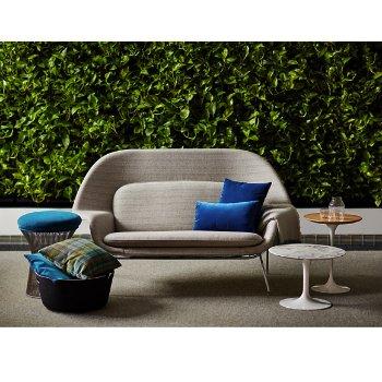 Shown with Saarinen Womb Settee, Saarinen Round Side Tables, Saarinen 35.75-Inch Round Coffee Table