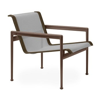 Shown in Aluminum Fabric, Chestnut Frame, Bronze Trim