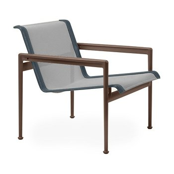 Shown in Aluminum Fabric, Chestnut Frame, Grey Trim
