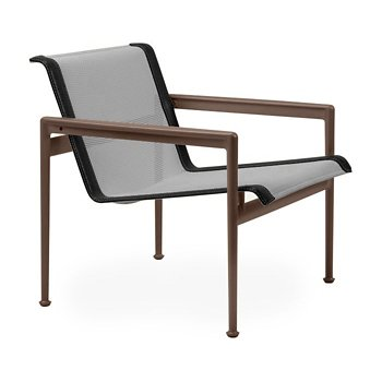 Shown in Aluminum Fabric, Chestnut Frame, Onyx Trim