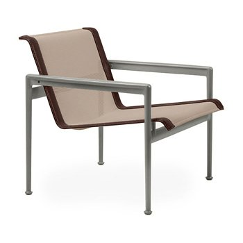 Shown in Bronze Fabric, Weatherable Silver Frame, Brown Trim