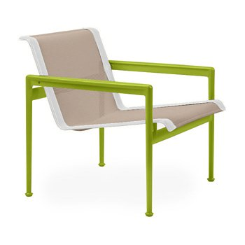Shown in Bronze Fabric, Lime Green Frame, White Trim