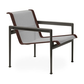 Shown in Aluminum Fabric, Dark Bronze Frame, Brown Trim