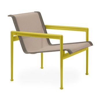Shown in Bronze Fabric, Yellow Frame, Sand Trim