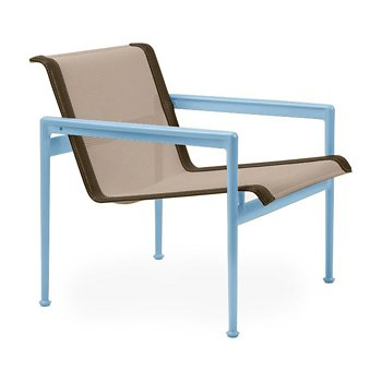 Shown in Bronze Fabric, Sky Blue Frame, Bronze Trim