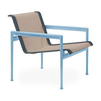 Shown in Bronze Fabric, Sky Blue Frame, Grey Trim