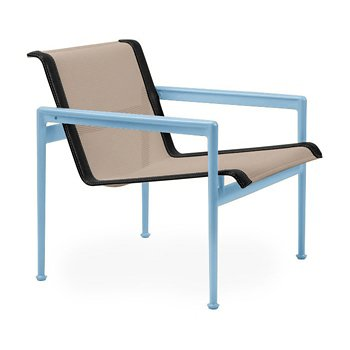 Shown in Bronze Fabric, Sky Blue Frame, Onyx Trim