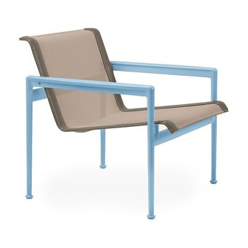 Shown in Bronze Fabric, Sky Blue Frame, Sand Trim