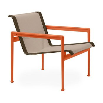 Shown in Bronze Fabric, Orange Frame, Bronze Trim