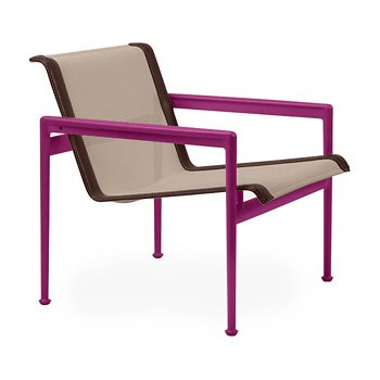 Shown in Bronze Fabric, Plum Frame, Brown Trim