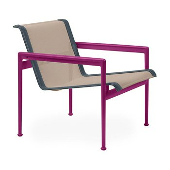 Shown in Bronze Fabric, Plum Frame, Grey Trim
