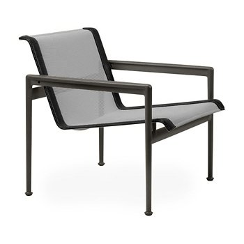 Shown in Aluminum Fabric, Dark Bronze Frame, Onyx Trim