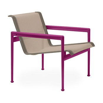 Shown in Bronze Fabric, Plum Frame, Sand Trim