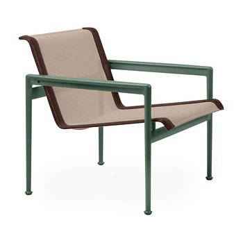 Shown in Bronze Fabric, Green Frame, Brown Trim