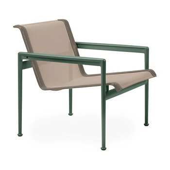 Shown in Bronze Fabric, Green Frame, Sand Trim