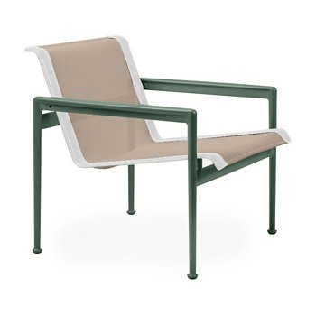 Shown in Bronze Fabric, Green Frame, White Trim