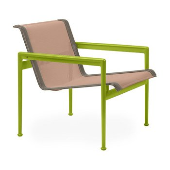 Shown in Chestnut Fabric, Lime Green Frame, Sand Trim