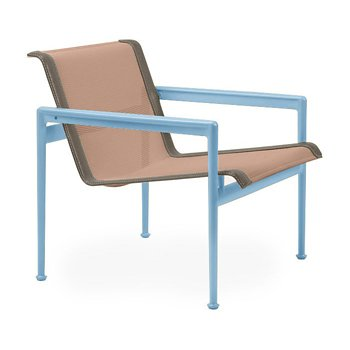 Shown in Chestnut Fabric, Sky Blue Frame, Sand Trim