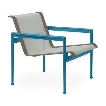Shown in Grey Tone Fabric, Blue Frame, Sand Trim