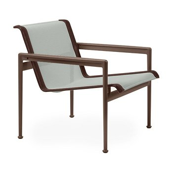 Shown in Grey Tone Fabric, Chestnut Frame, Brown Trim