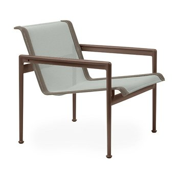 Shown in Grey Tone Fabric, Chestnut Frame, Sand Trim