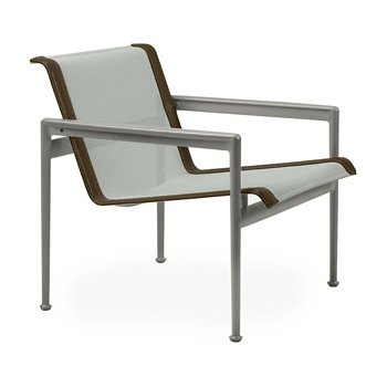 Shown in Grey Tone Fabric, Weatherable Silver Frame, Bronze Trim
