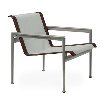 Shown in Grey Tone Fabric, Weatherable Silver Frame, Brown Trim