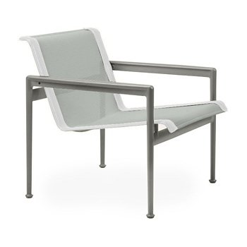 Shown in Grey Tone Fabric, Weatherable Silver Frame, White Trim