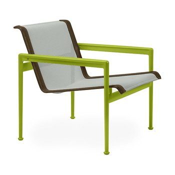 Shown in Grey Tone Fabric, Lime Green Frame, Bronze Trim