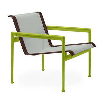 Shown in Grey Tone Fabric, Lime Green Frame, Brown Trim