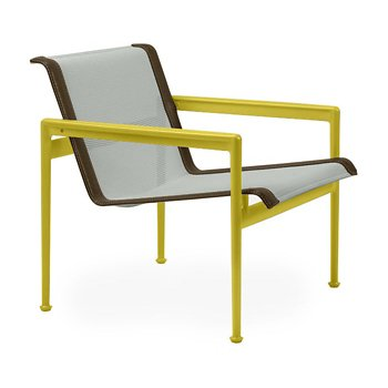 Shown in Grey Tone Fabric, Yellow Frame, Bronze Trim