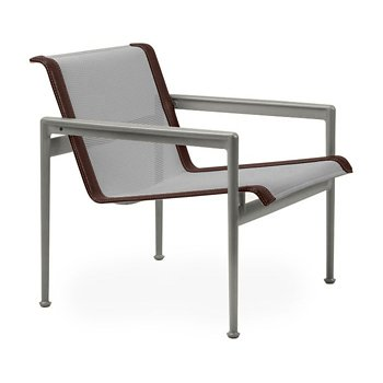 Shown in Aluminum Fabric, Weatherable Silver Frame, Brown Trim