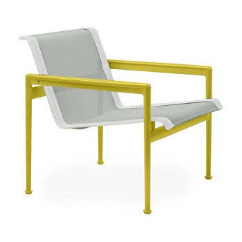 Shown in Grey Tone Fabric, Yellow Frame, White Trim