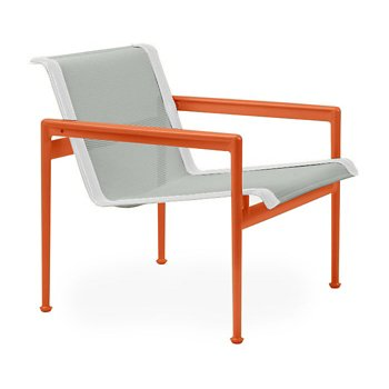 Shown in Grey Tone Fabric, Orange Frame, White Trim
