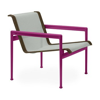 Shown in Grey Tone Fabric, Plum Frame, Bronze Trim
